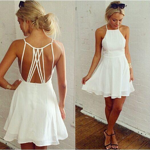 White Spaghetti Strap Dresses