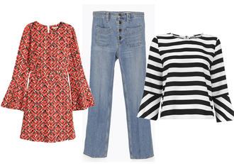 josefin dahlberg blogger jeans striped top folk tunic