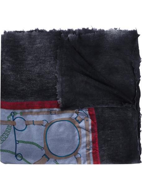 AVANT TOI printed scarf women scarf silk grey