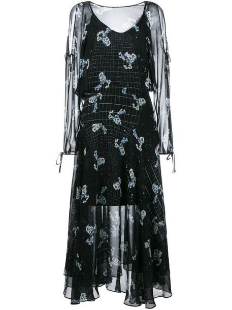 PREEN BY THORNTON BREGAZZI dress print dress women print black silk
