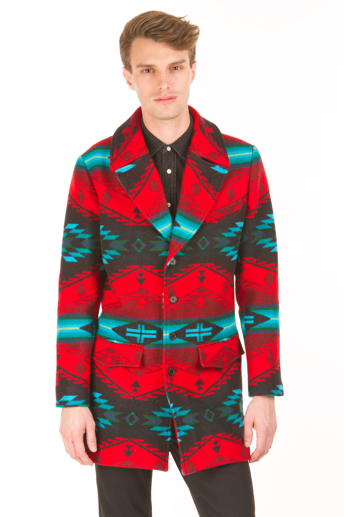 Pendleton meets opening ceremony notch collar overcoat