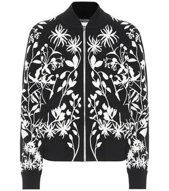 jacket bomber jacket jacquard black