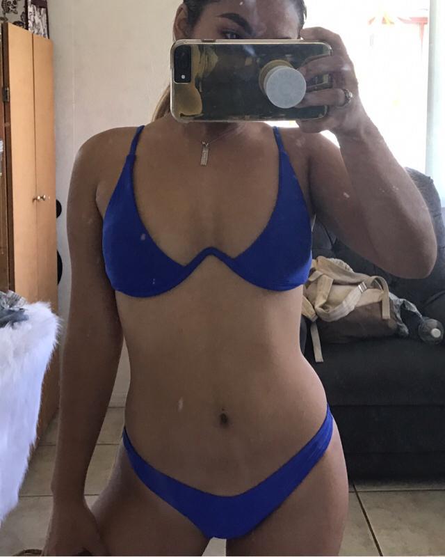 zaful push up plunge bikini