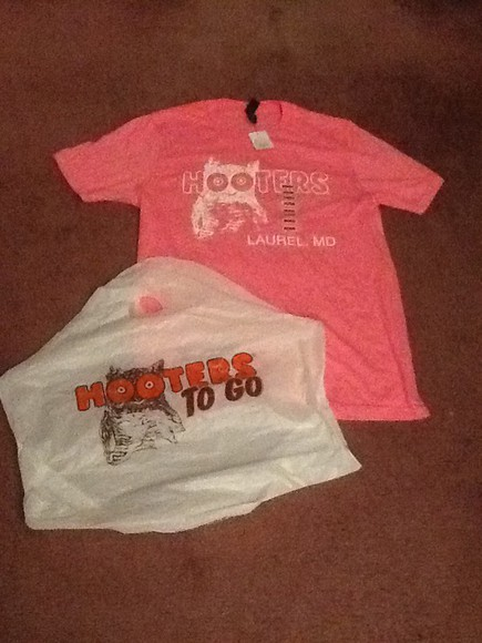 owl t-shirt hooters Pink pink Hooterswings hootersshirt hooterdgirl hootersgirls colorpink orange Colorbrown white Lurelmd maryland lurel