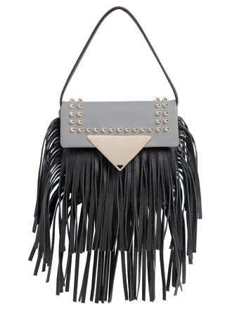 mini bag shoulder bag leather black grey