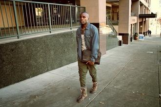 seattle fashion blogger blogger tank top menswear denim shirt mens shirt mens pants mens shoes