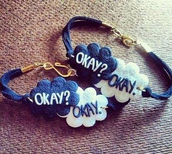 jewels,the fault in our stars,bracelets,blue