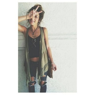 jeans tank top tanks clothes sweater cute hot tumblr tumblr outfit tumblr girl