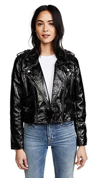 Blank Denim jacket shiny black