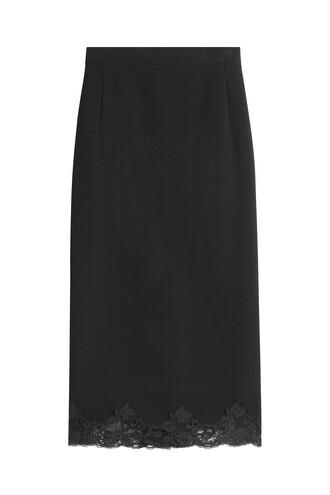 skirt pencil skirt lace black