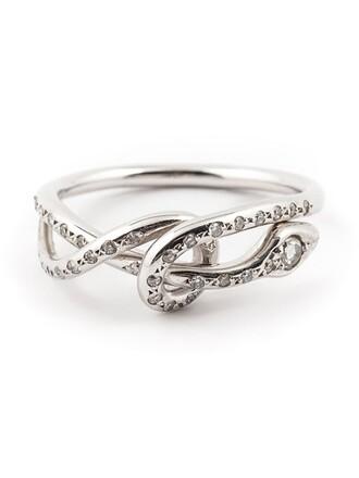 python ring metallic jewels