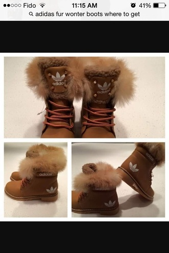 shoes addidas fur boots