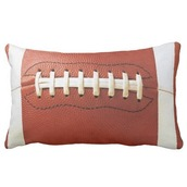 home accessory,imgeee,football pillow,sportsfan,sports fan,game room,bedroom,bedroom pillow,high school,college,ncaa,nfl,superbowl,football,cool gifts idea,zazzle,pillow