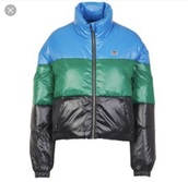 jacket,blue green black,colorblock,levi's,padded jacket