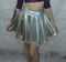 Silver metallic stretchy skater skirt