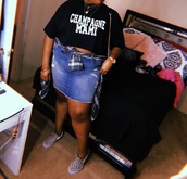 shirt,t-shirt,black,champagnemami,champagne,mami