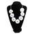Big Rose Flower Golden Chain Necklace Rhinestone Chain Resin Beads Bib Statement | eBay