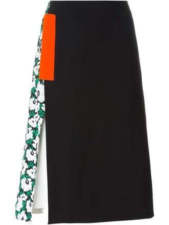 skirt floral skirt floral black