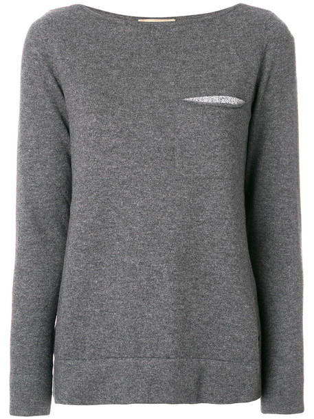 FAY jumper women wool grey sweater