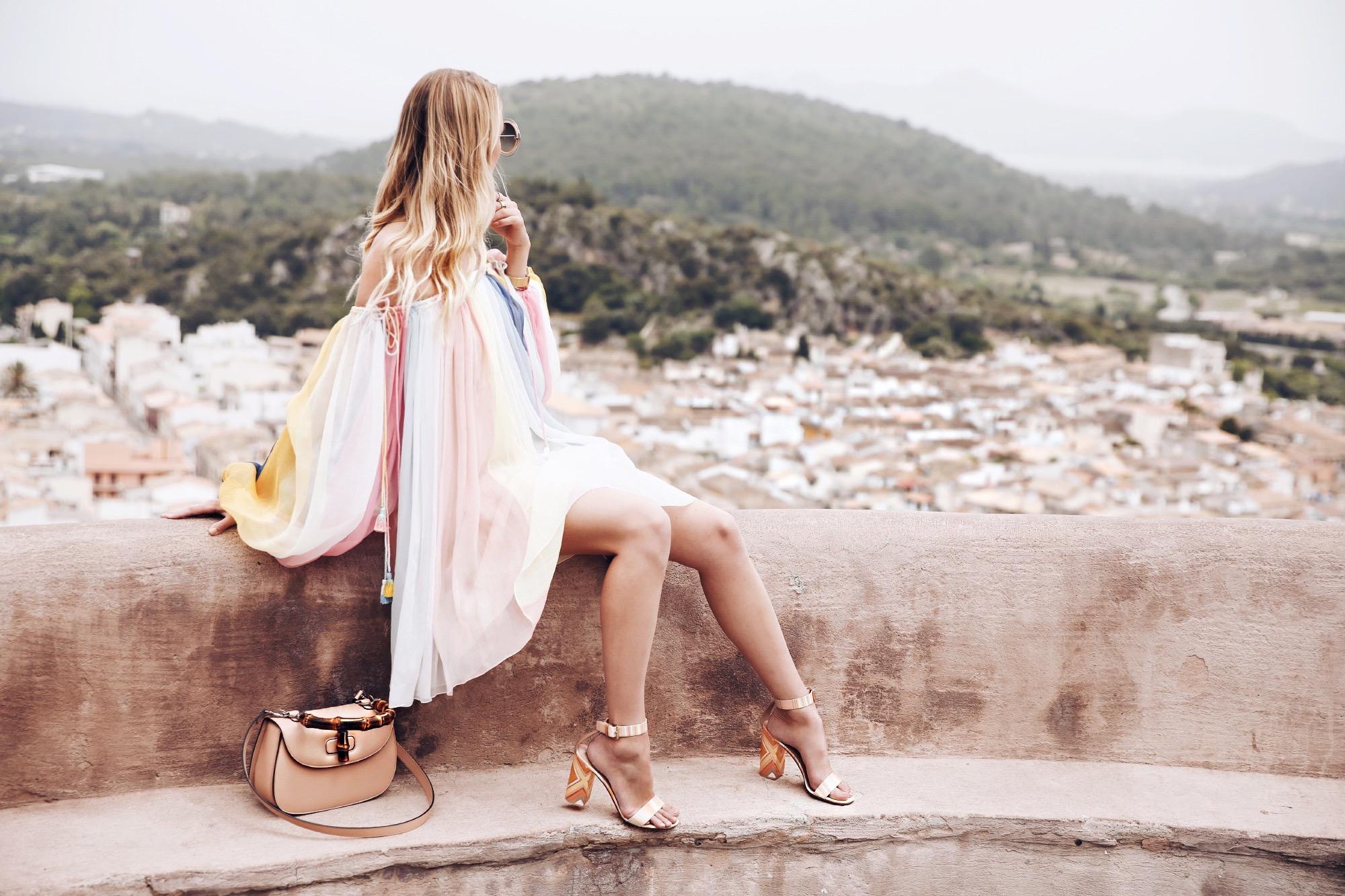 Chloé rainbow dress | Pollenca, Mallorca -
