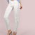 High Waisted Side Laced Pants WHITE -SheIn(Sheinside)