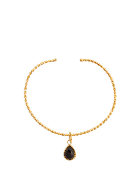 Sylvia Toledano necklace gold black jewels