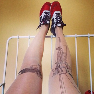 underwear embroidered tights shoes