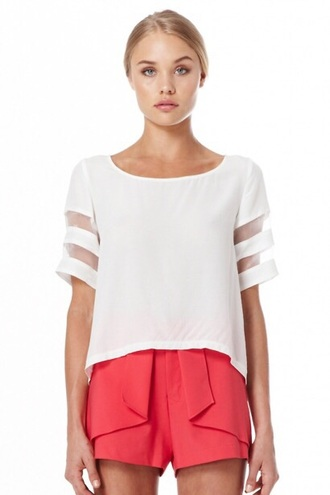 top white summery modern top with cute shorts