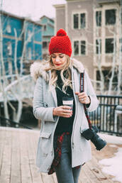 a little dash of darling,blogger,top,sweater,coat,make-up,shoes,winter outfits,beanie