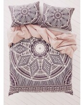home accessory,bedding,pattern,patterned comforter,cute,comfy,sleep,love,black,white,pink,black and white