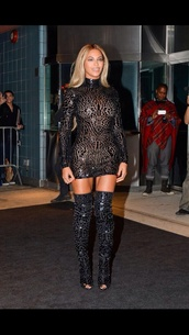 dress,beyonce,sparkly dress,metallic,little black dress,long sleeve dress