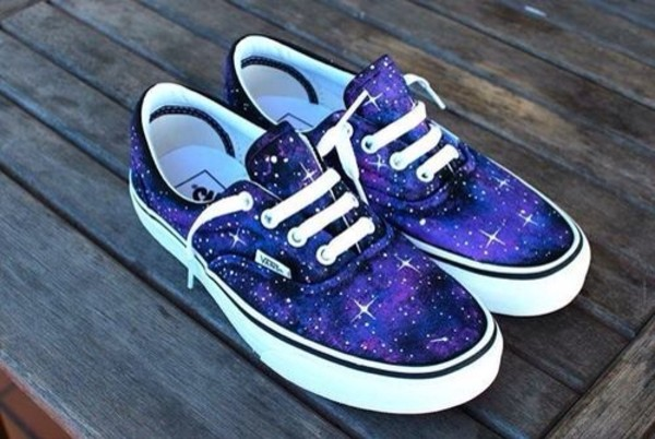 shoes galaxy print Vans galaxy vans purple blue cool sneakers vans