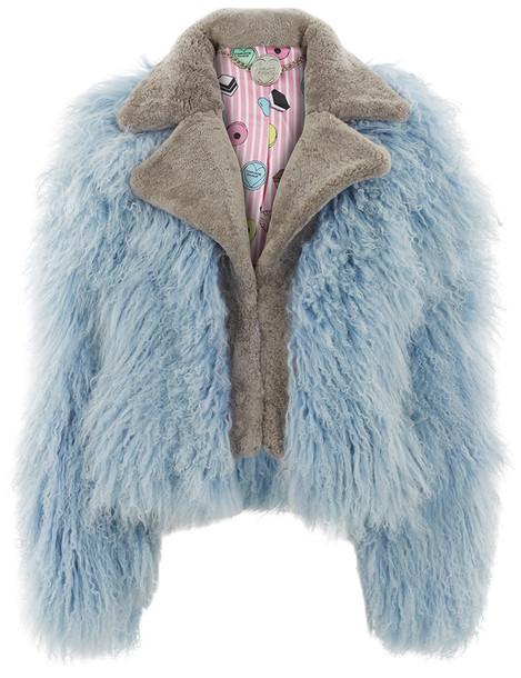 CHARLOTTE SIMONE jacket biker jacket blue