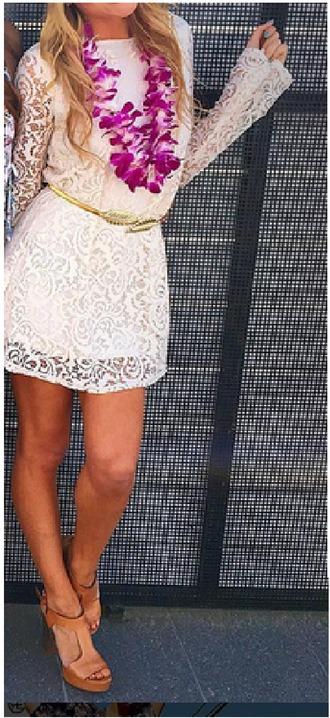 dress allover lace dress lace dress white lace dress longsleeve lace dress summer dress casual dress white summer dress summer lace dress brown heels brown block heels tan heels tan block heels strappy heels strappy block heel sandal brown strappy heel sandals white dress long sleeve dress white longsleeved dress strappy high heel sandals