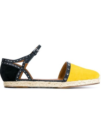 espadrilles yellow orange shoes