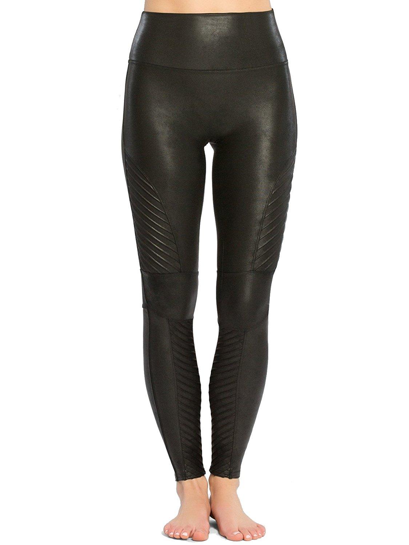 3e0af8091fc263 SPANX Women's Faux Leather Moto Leggings at Amazon Women's ...