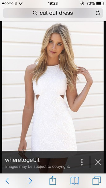 dress white dress cut-out dress patterned dress