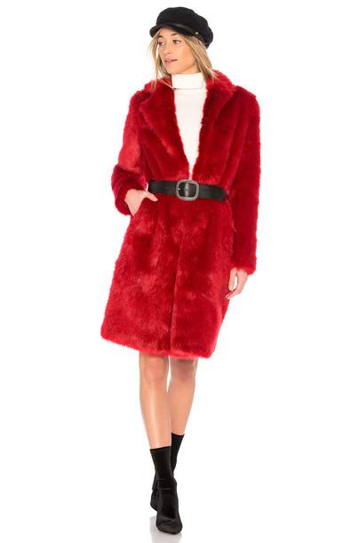 EAVES coat red