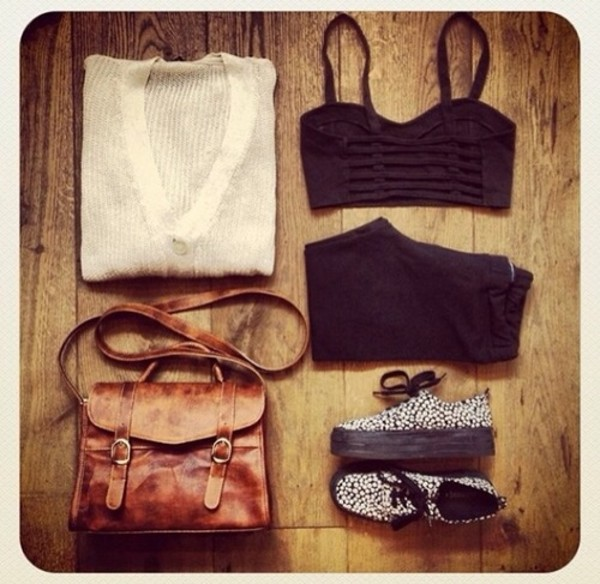 bag blouse tank top shoes pants