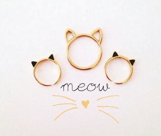 jewels jewelry ring knuckle ring gold gold rings gold jewelry cats cat eye meow ring rings and tings ringer rings & tings holiday gift