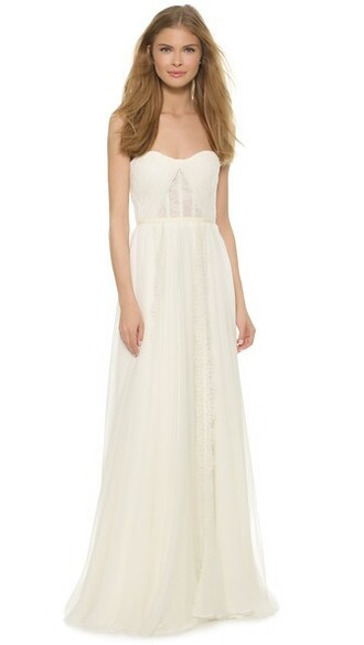 gown strapless love cream dress