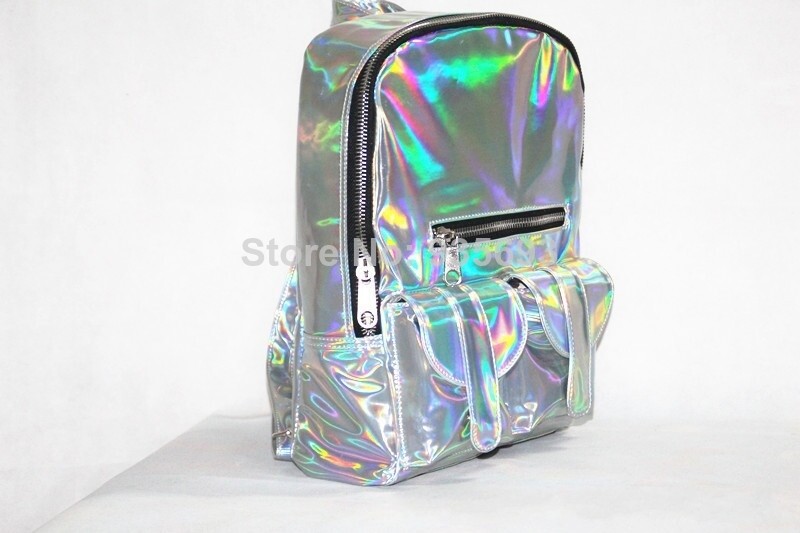 Aliexpress.com : Buy Women's Hologram Backpack Shoulder Message Bag Laser Silver Student's School Backpack Travel/Party Bag from Reliable bag crown suppliers on Online Store 935693