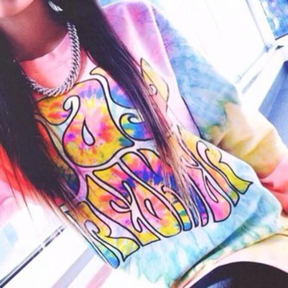 acid wash sweater swag