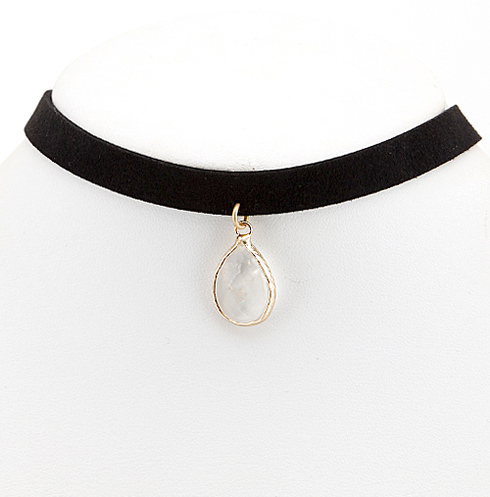Stevie Teardrop Pendant Choker Necklace