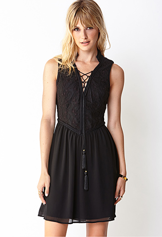 Poetic Fit & Flare Dress | FOREVER21 - 2000065597