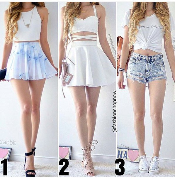 Shirt: skirt, skater skirt, mini skirt, white skirt, high waisted ...