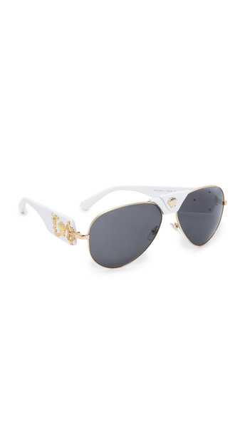 VERSACE sunglasses aviator sunglasses white grey