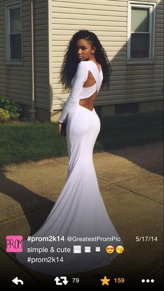 cut-out dress prom dress dress white dress