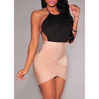 dress bandage dress sexy fashion party dress summer hot tan trendsgal.com