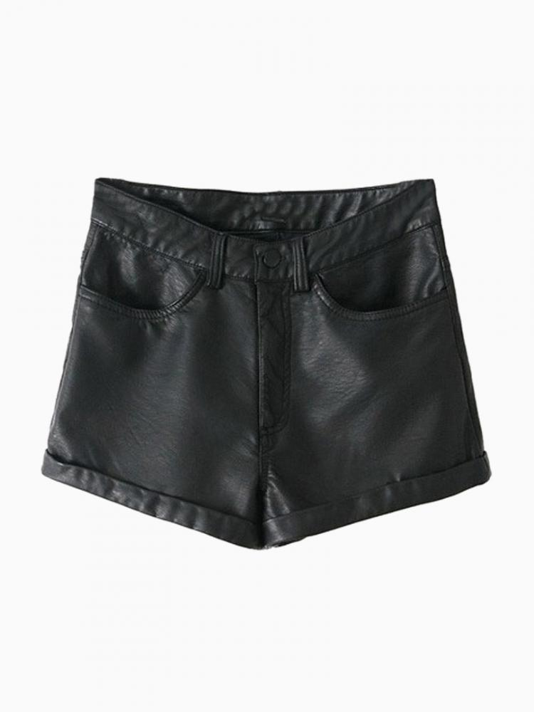Classic Faux Leather Shorts | Choies